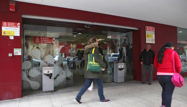Oficina del Servicio Navarro de Empleo en Tudela.