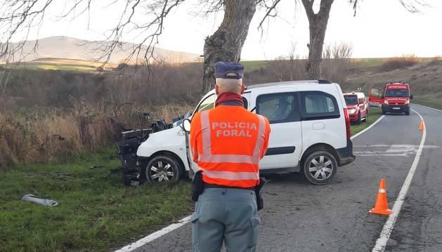 Galería de fotos del accidente que se ha producido en Gazólaz, en el que ha fallecido un joven de 19 años.