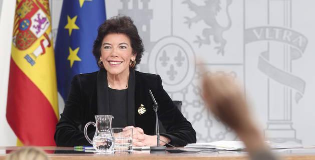 Foto de la portavoz y ministra de Educación en funciones, Isabel Celaá.