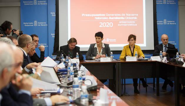 Foto de Elma Saiz en la presentación del anteproyecto de los Presupuestos Generales para 2020.