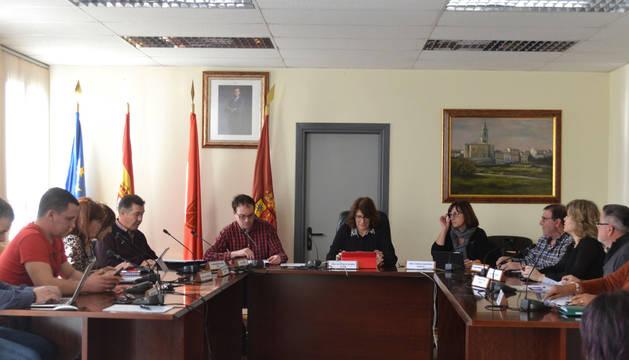 Foto de los representantes municipales de PSN, NA+ y Mendavia.