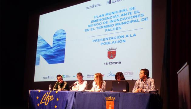 Presentación del plan de emergencia por inundaciones en Falces.
