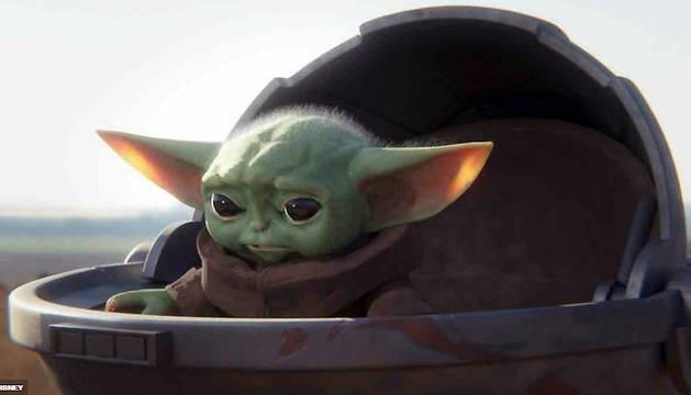 Baby Yoda, uno de los personajes de la serie 'The Mandalorian'.