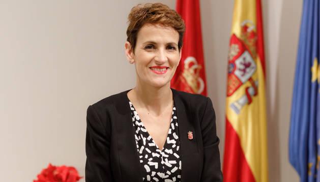 Foto de la Presidenta de Navarra, María Chivite.