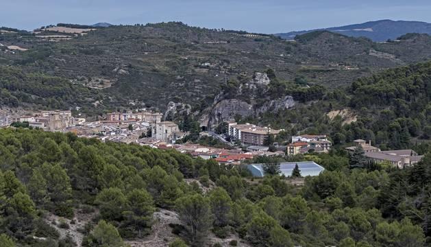 Vista de los terrenos de Oncineda de Estella, en el entorno de la carpa del mismo nombre.