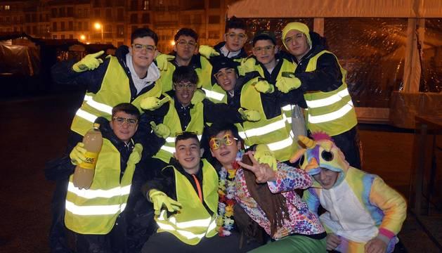 Fotos de los disfraces de Nochevieja en Pamplona 2020