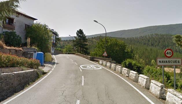 Entrada a la localidad de Navascués.