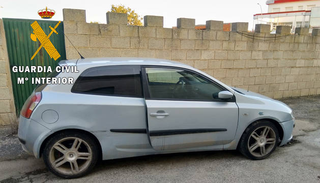 La Guardia Civil recupera un vehículo sustraído en Peralta y detiene al autor del robo