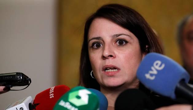 Adriana Lastra, este viernes en el Congreso de los Diputados.