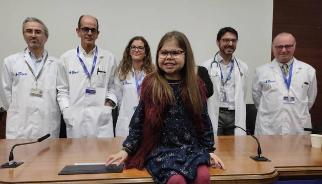 Una niña de 10 años, primera triple trasplantada de corazón, hígado y riñón