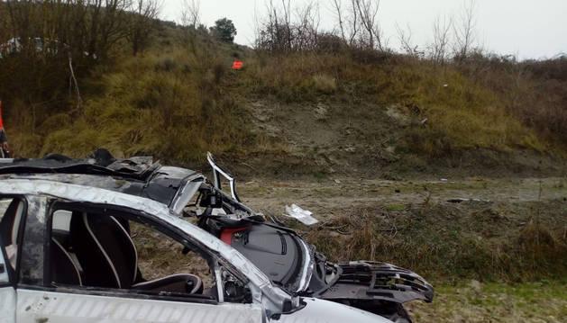 Foto del vehículo tras el accidente.