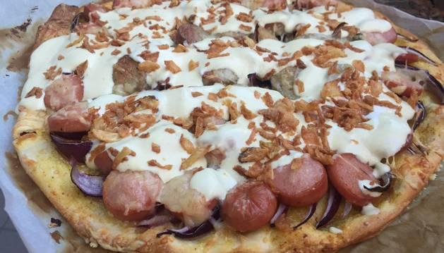 Esta pizza de salchichas es una de las tres recetas de ho