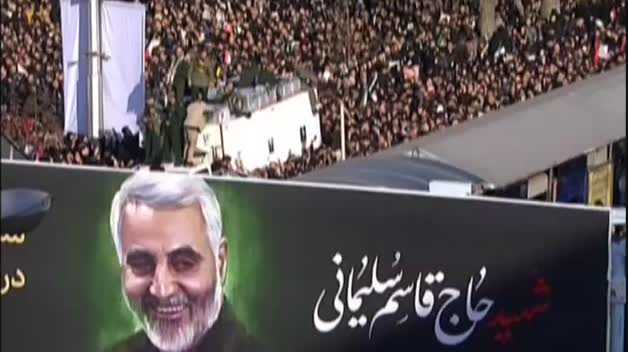 Multitudinario funeral de Soleimani en Irán