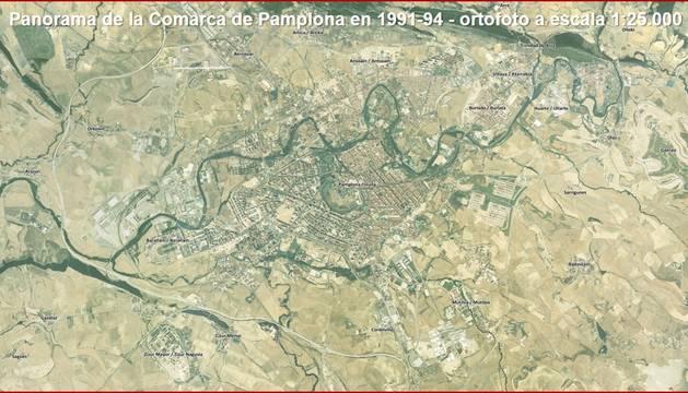 Ortofoto de la Comarca de Pamplona.