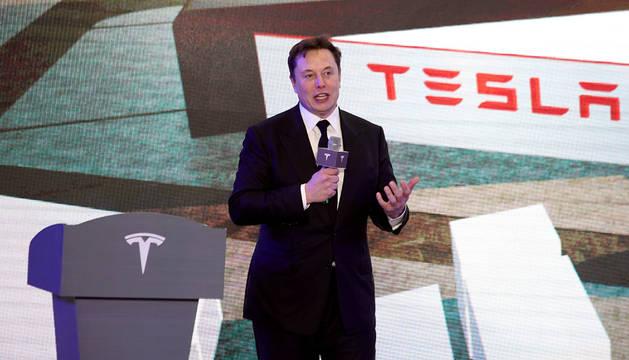 Elon Musk, propietario de SpaceX y de la fábrica  de automóviles eléctricos Tesla.