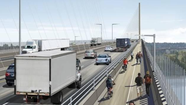 Imagen del puente que Acciona construirá en Vancouver.