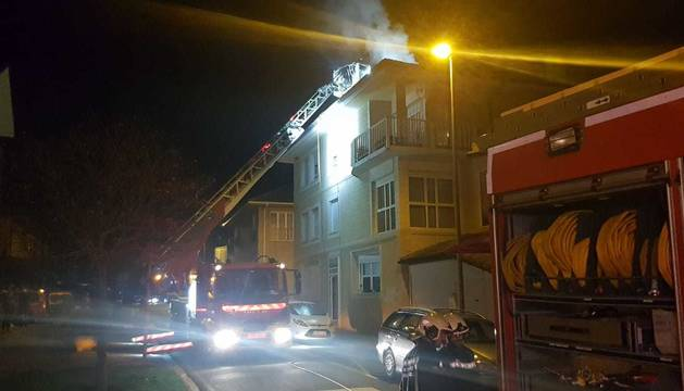 Incendio sin heridos en una vivienda de Mutilva Alta