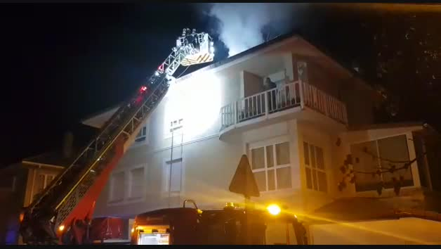Incendio en una vivienda de la calle Eguzki de Mutilva Alta