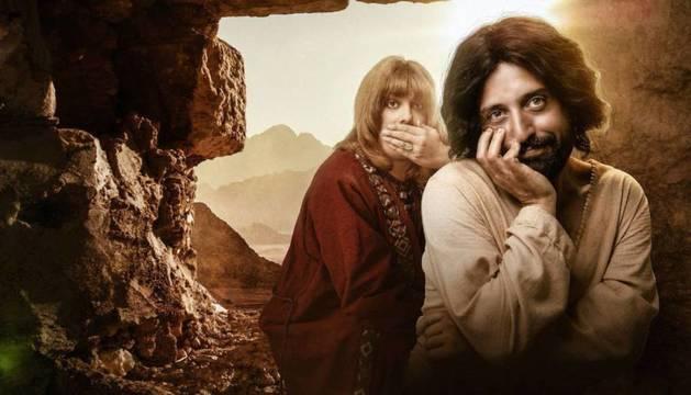 Foto del actor Gregório Duvivier, en su papel de Jesús para 'La primera tentación de Cristo'.