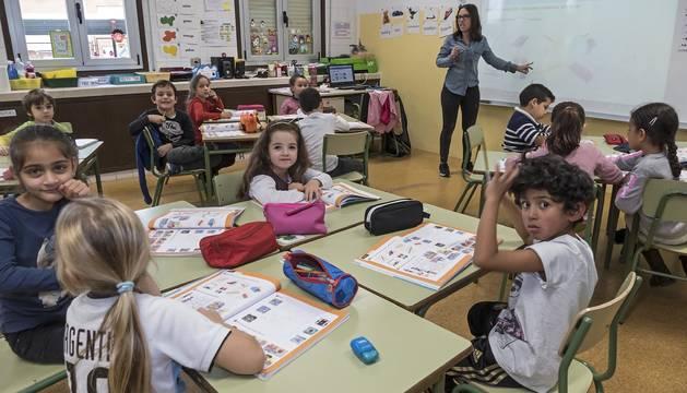Alumnos del CP Ricardo Campano de Viana durante una clase.