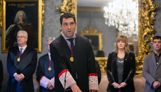 Hugo López, en el acto de toma de posesión.
