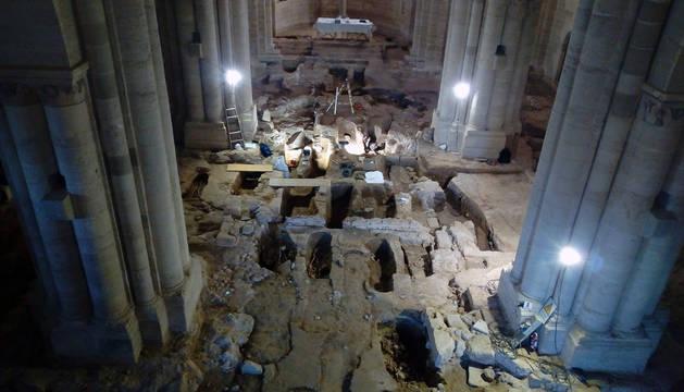 Interior de la iglesia del Monasterio de Irache.