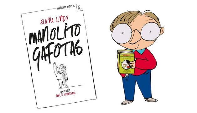 Imagen de los 25 años del libro 'Manolito Gafotas'.