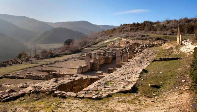 Foto del yacimiento arqueológico de Santa Criz.