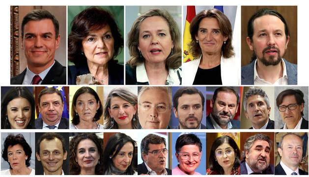 Así queda el nuevo Consejo de Ministros del gobierno encabezado por Pedro Sánchez.