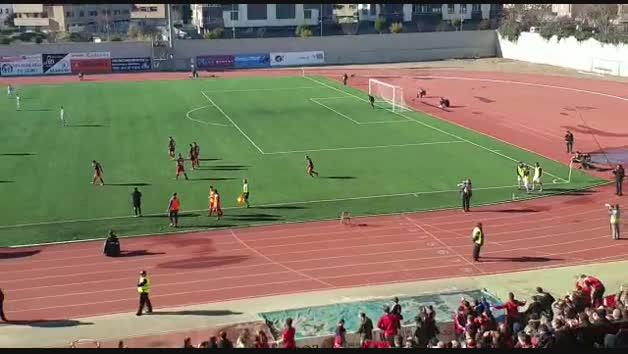Celebración del gol de Chimy Ávila para remontar el partido