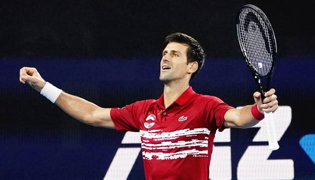 foto de El tenista serbio Novak Djokovic y su compatriota Viktor Troicki vencieron a Feliciano López y Pablo Carreño, ganando el título de la ATP Cup