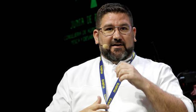 foto de El chef Dani García durante una presentación en Madrid Fusión