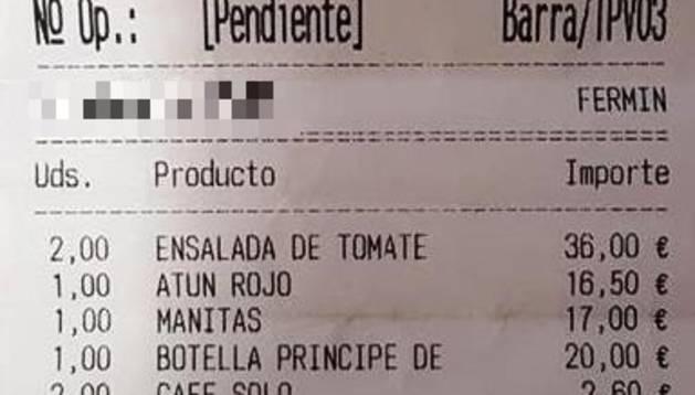 Un policía foral fuera de servicio impide un 'simpa' en un restaurante