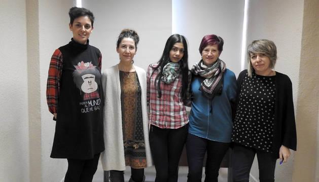 Marisa Martínez, Esther Aramendía, Mª Jesús Tejeriza, Begoña Arbeloa y Amaya Fernández.