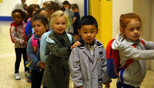 Alumnos de infantil del colegio Escolapios de Pamplona