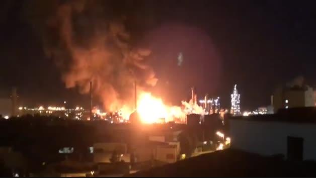 Explosión en un polígono petroquímico de Tarragona