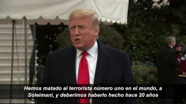"""Trump: """"Hemos matado al terrorista número uno del mundo y deberíamos haberlo hecho hace 20 años"""""""