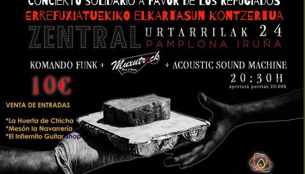 Cartel de los conciertos solidarios organizados por Zaporeak.