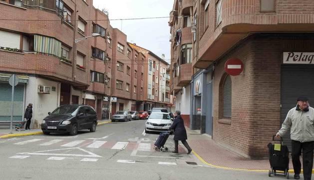 Foto de la intersección de la calle Raimundo Lanas con Centro Parroquial.
