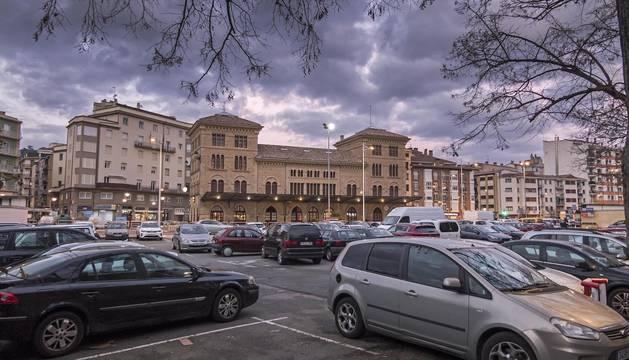 Foto del parking de las clarisas, en Estella.