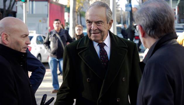 Foto del expresidente de Bankinter Jaime Botín, a su llegada al Juzgado de lo Penal número 27 de Madrid en 2017.