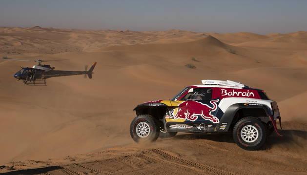 Foto de Stéphane Peterhansel (Mini), en la undécima etapa del Dakar.