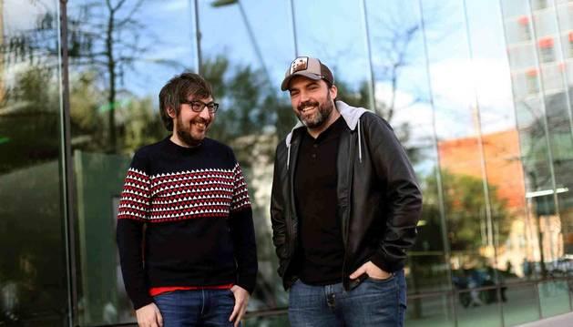 Jorge Díaz y Javier Ikaz, creadores de los libros y los espectáculos Yo fui a EGB.