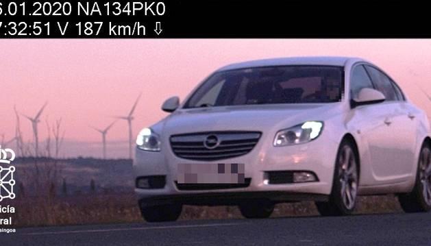El vehículo interceptado en MIlagro a 187 km/h.