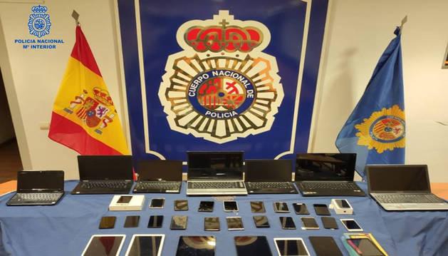 Desarticulado un punto de venta de objetos robados en un locutorio de Pamplona