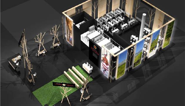 foto de Recreación del stand de Navarra en Fitur 2020