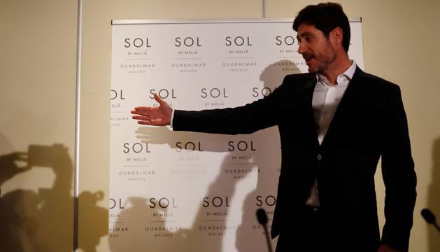 Foto de Víctor Sánchez del Amo, momentos antes de la rueda de prensa que ofreció el pasado 15 de enero.