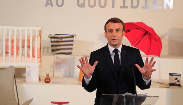 Emmanuel Macron, en una rueda de prensa en el Elíseo.