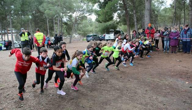 Todas las fotos de los participantes en el campeonato navarro de cross de relevos mixtos en Tudela