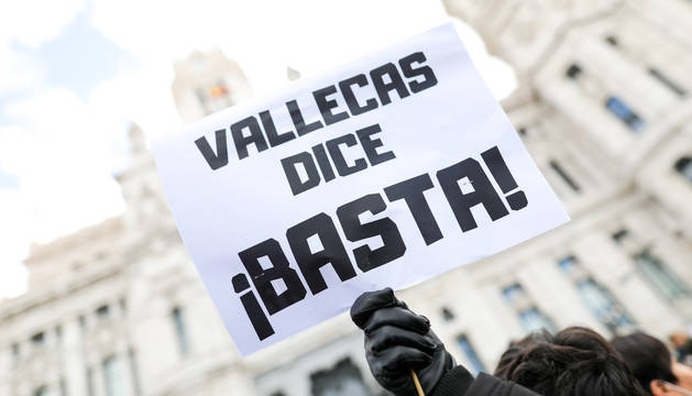 Protesta de vecinos de Vallecas.